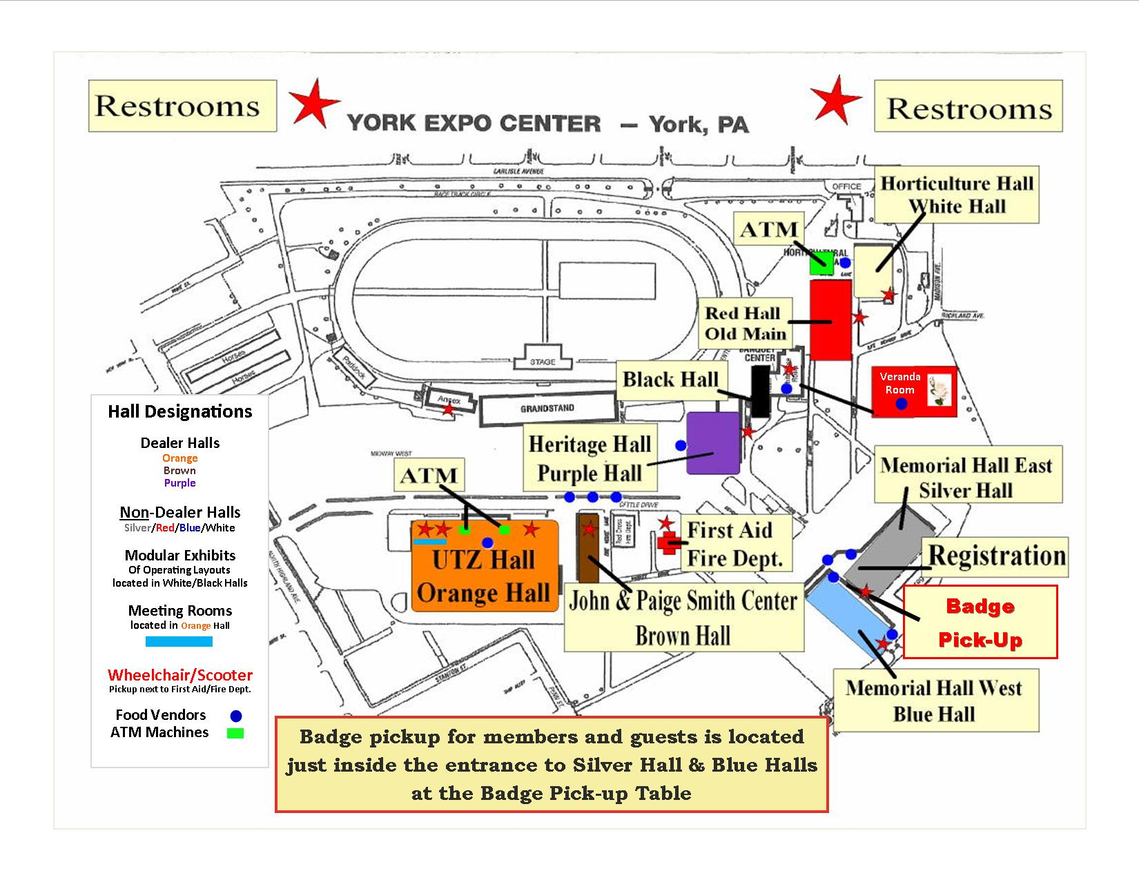 Location Of Buildings On The Fairgrounds